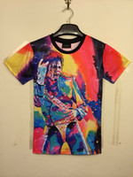 Wholesale 2014 Fashion summer clothing Michael concert MJ colorful print women men d galaxy t shirts Michael star basketball jersey tops tee