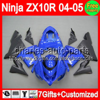 7gifts+ Body For KAWASAKI Ninja ZX10R 04- 05 Factory blue C#L1...