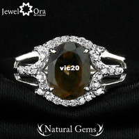Band Rings Party Rings Genuine 925 Fine Jewelry Natural Citrine Ring 925 Sterling Silver Rings For Women (JewelOra Ri101285)
