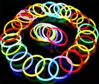 April Fool's Day Event & Party Supplies Party Decorations Disposable neon stick neon bracelet tape adapter diy luminous stick small toys party decoration items 100 pieces lot