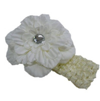 Barrettes Cotton Floral headbands Crochet headband girls Hair flower hair clips baby hair bow clip 12pcs lot