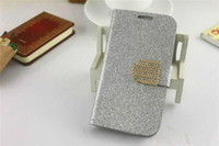 For Apple iPhone Leather White - LUXURY DIAMOND BLING GLITTER WALLET FLIP CASE COVER FOR SAMSUNG GALAXY S3 I9300 S4 I9500 S5 Note 2 3 Iphone 4 4s 5 5s 5c 100pcs DHL FEDEX