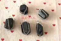 Beaded Necklaces   Black tourmaline pendant black tourmaline nunatak pendant handmade products energy apotropaic