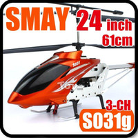Electric 2 Channel 1:4 61CM 24inch Big Large SYMA S031G 3.5CH Electric Outdoor 3D Full Function GYRO RC Helicopter LED Light Radio Remote Control