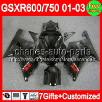 7gifts ALL Black For SUZUKI GSXR 600 750 01- 03 GSXR600 GSXR7...