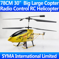 """Electric 2 Channel 1:4 Free Shipping 78CM 30"""" Big Larger 3.5CH Gyro Radio LCD Remote Control Electric RC Helicopter RTF Child Toy VS Double Horse 9053"""
