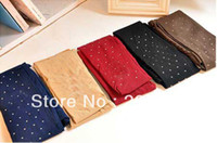 Leggings Skinny,Slim Women new color translucent Rhinestone shiny thin beautiful long velvet socks pantyhose