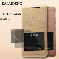 For Apple iPhone TPU HTC T6 KLD Kalaideng KA Series View Window Leather Case for HTC ONE MAX (8088) Back Stand thin Brand Phone Bags Easy Answer