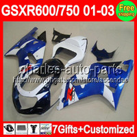 7gifts For SUZUKI GSXR 600 750 01- 03 GSXR600 Factory blue GS...