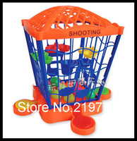 Wholesale MIni Simple Bird Cage Desktop Basketball Toy Sets Marbles Child Early Learning Developing toys years