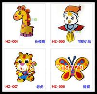 Animals foam puzzle - 10pieces Kids DIY Cartoon Animal D EVA Foam Sticker Wall stickers Handmade EVA Foam Puzzle Toys Educational Toys Children