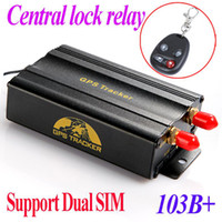 Wholesale Dual SIM card Port GPRS GSM Vehicle Car GPS Tracker Remote Control Real time Tracking Central Alarm Google Map TK103B