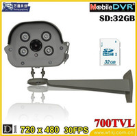Wholesale SD card storage SD card camcorders infrared surveillance camera video recorder with HD Waterproof DVR manufacturers DHL free shiping