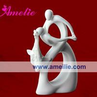 Wholesale White Color Retail Party Favors Ceramic Figurine Wedding Cake Topper Bride Groom