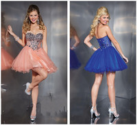 Reference Images Sweetheart Tulle 2014 NEW Arrival Cheap Bead Sweetheart Short Mini Tulle A Line Zipper Sexy Cocktail Party Dresses Homecoming prom Dress Gown Custom Made