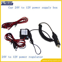 Wholesale Box V vehicle power supply voltage to V LCD monitor power supply voltage regulator box manufacturers DHL free shiping