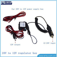 Wholesale 24 turn buck cable car DVR car charging bottle powered low power converter protection DHL free shiping