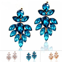 Charm Women's Drop Earrings High Quality 2014 New Arrival Costume Jewelry Fashionable Beauty Shine Crystal Drop Earrings For Women Dancing Party Gifts