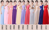 Wholesale 2014 summer new shoulder bridesmaid dress bridesmaid sisters long section of the bride dress Mission