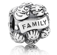 Wholesale 925 Sterling Silver love Family Pandora Charm European Beads Mothers Fathers Day Gift
