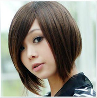 Wholesale Price Women Cute Sexy Colors Front Short Straight Front Synthetic Wigs