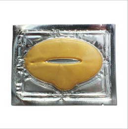 Wholesale Free Ship Pieces Gold Collagen Crystal Lip Mask Membrane Care Moisture Essence K07957