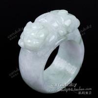 Band Rings jade rings - Natural jade ring ring male couple on the gambling gods natural jade ring ring ring