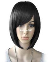 achat en gros de courtes perruques de femmes-Droite courte perruque BOB (Modèle: Jf010710) de Cool2day femmes