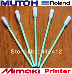 Wholesale 1000 Foam Tipped Inkjet Cleaning Swabs Roland Mimaki JV3 Solvent Printer Cleaning Swabs Sticks manufacturers