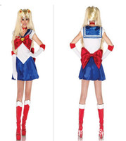 Wholesale 2015 Fashion New sexy costumes for women Halloween costume sailor moon Cosplay club party stage wear cartoon character Hallowmas fancy dress