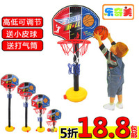 Assembly Tools Red Unisex Adjustable Basketball Hoop shooting frame Backboard Stands with Tie Pump Set Ball Kids baby Children Outdoor and Indoor Toys Set