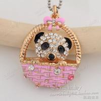 Bijoux de panda Prix-Bijoux de mode coréenne en gros mignon flash forage activité panda pendentif collier pendentifs en gros