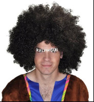 afro wigs - Cool2day Black Afro Wig Fans Bulkness Cosplay Christmas Halloween Football Fans s Love Clown Wig Model Jf010479