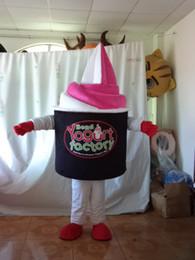 2014 adult frozen yogurt mascot costume frozen yogurt mascot frozen yogurt costume with customize LOGO for sale