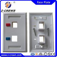 rj45 keystone jack - High Quality Ports US type Face Plates Network RJ45 Face Plate for RJ45 RJ11 keystone jacks