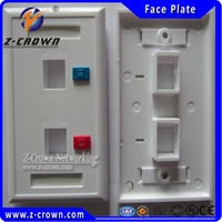 Wholesale High Quality Ports US type Face Plates Network RJ45 amp RJ11 Face Plate for RJ45 RJ11 keystone jacks