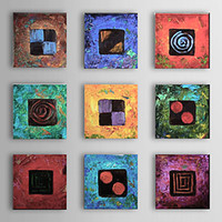 Cheap More Panel Floral Oil Painting Best Oil Painting Abstract abstract Oil Painting