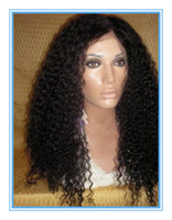 Wholesale Factory price kinky curly indian virgin remy full lace wigs human hair wigs black woman