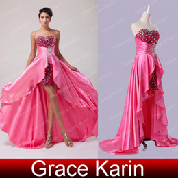 Wholesale 2014 Long A line Strapless With Sequins And Acrylic Embellished Ball Gown Evening Prom Party Dress Size US CL6012