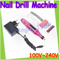 Wholesale gift idea Pen Shape Electric Nail Drill Machine Art Salon Manicure File Polish Tool Bits EU Plug