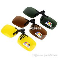 Wholesale New Polarized Sunglasses Clip for Myopia Glasses Driving Fishing Biking Skiing Q0106Z