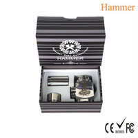 Electronic Cigarette Hammer mod stainless steel Hot Sale !!! Hammer style Epipe Mod Electronic cigarette Hammer E pipe Mod Mechanical Suitable for 18350 18650 battery gift box package