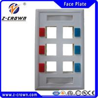 Wholesale High Quality Ports US type Face Plates Network RJ45 RJ11 Face Plate for RJ45 RJ11 keystone jacks