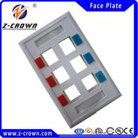 Wholesale High Quality Ports US type Face Plates Network RJ45 amp RJ11 Face Plate for RJ45 RJ11 keystone jacks