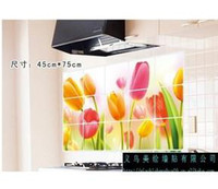 Wholesale Tulips kitchen oil stickers Yiwu America painted wall stickers home decor QZ224