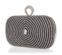 Wholesale hot sales day cutches bridal party handbags chain fashion pearl clutch evening bag