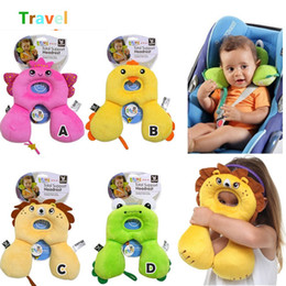 Wholesale Baby neck pillow cartoon designs U shaped travel pillow m baby care products children car safety almofadas aniamls designs