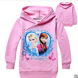 Wholesale 2 yrs Baby boys girls Hoodies Frozen outerwear Child Long sleeve hoodies Kid apparel Cartoon