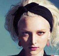 Headbands Black South American Wholesale - Free shipping New 2014 Korean Style Fashion Rabbit ear Headscarf Headbands For Women Hair Accessories