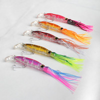 Wholesale 5 PIECES New Arrieval Squirt Octopus Skirt Trolling Bait Baites Fishing Lures mm g VMC Hooks